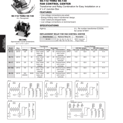 Fan Control Center Relay And Transformer Wiring Diagram 2003 Honda Accord Harness Best Library 90 112 Thru 130 Manualzz Com Rh 5 White Rodgers