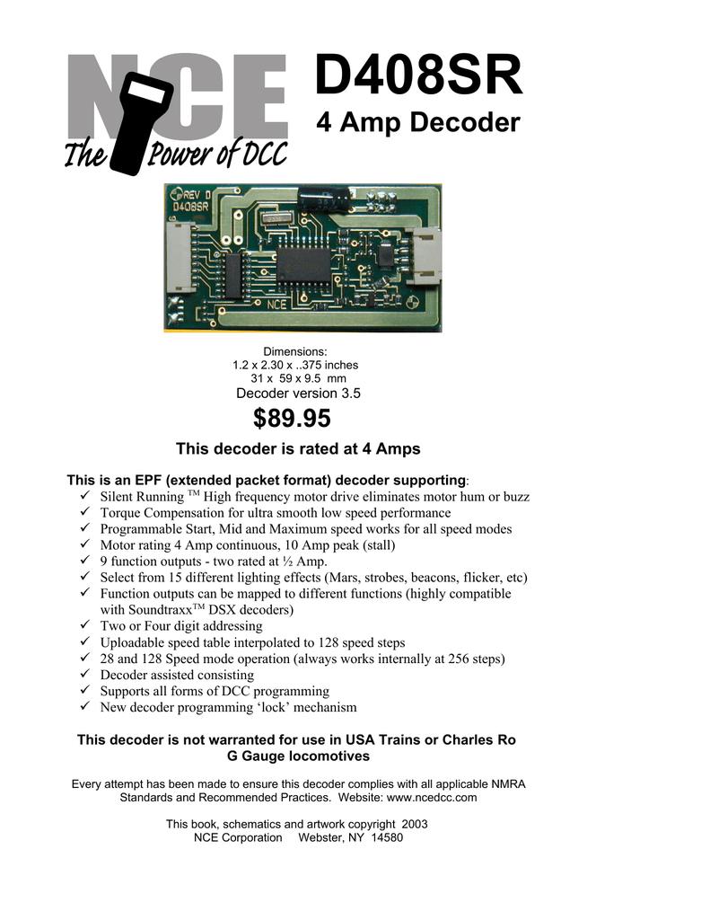 medium resolution of  d408sr manualzz com on pmi wiring diagram lionel wiring diagram mth wiring