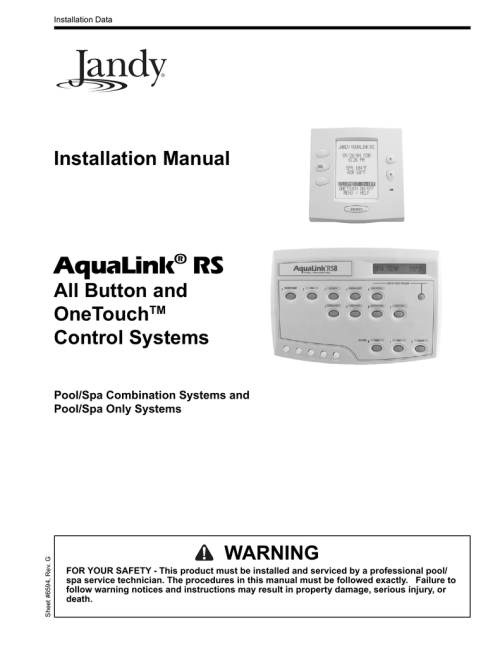 small resolution of click here to view the jandy installation manual