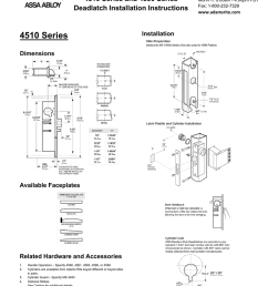 4510 4530 series deadlatch installation instructions [ 791 x 1024 Pixel ]