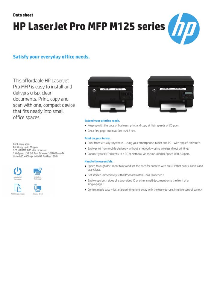 Download Driver Printer Hp Laserjet Pro Mfp M125a : download, driver, printer, laserjet, m125a, Hp-laserjet-pro-mfp-m125a-cz172a#baz, Manualzz