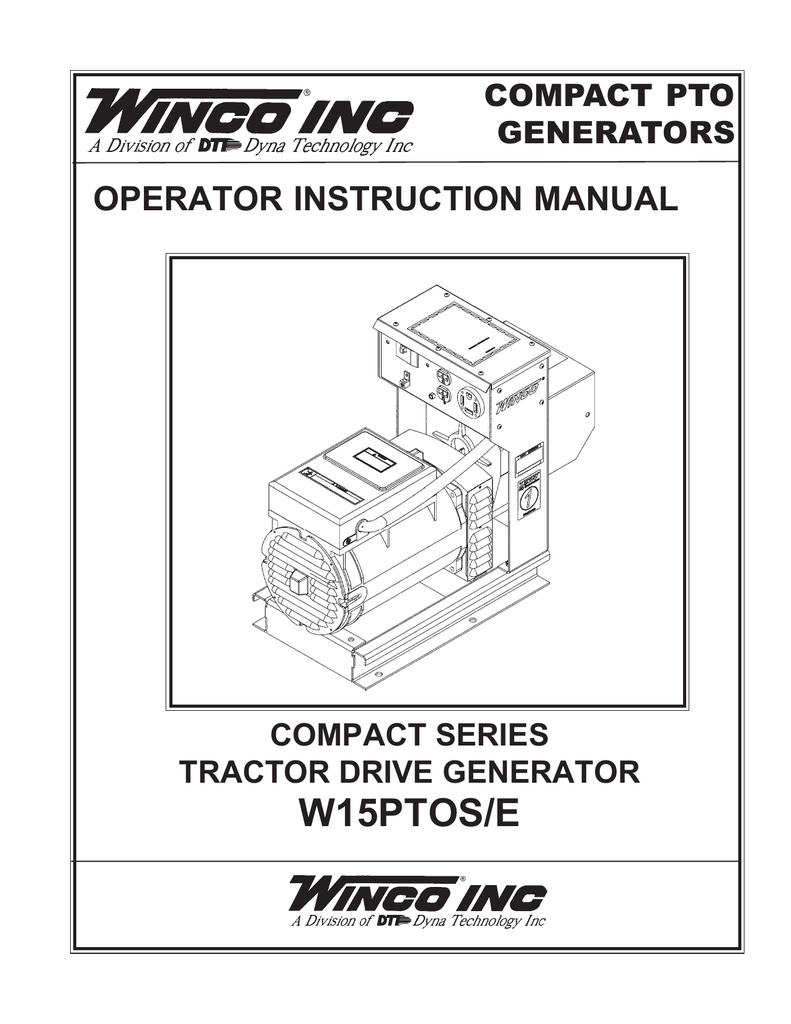 medium resolution of w15ptos e operator instruction manual compact pto generators