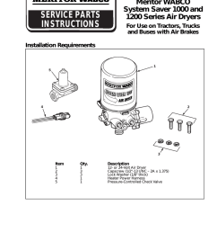 system saver 1200 installation instructions manualzz comwabco valve wiring diagram 21 [ 791 x 1024 Pixel ]