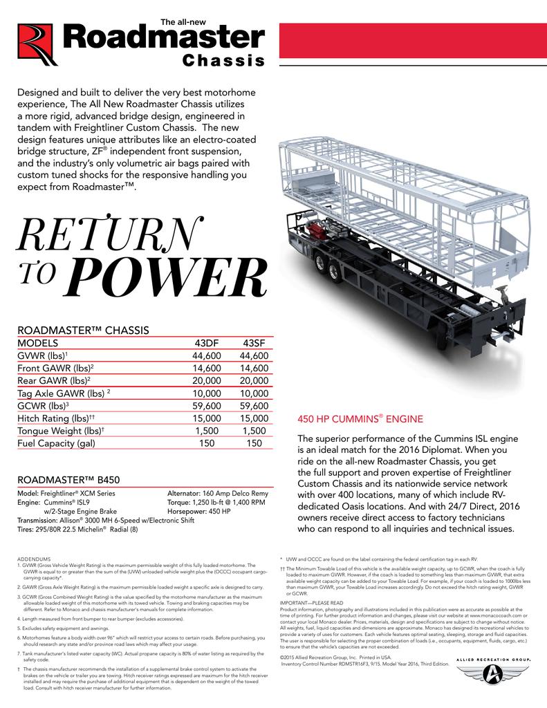 medium resolution of roadmaster chassis brochure