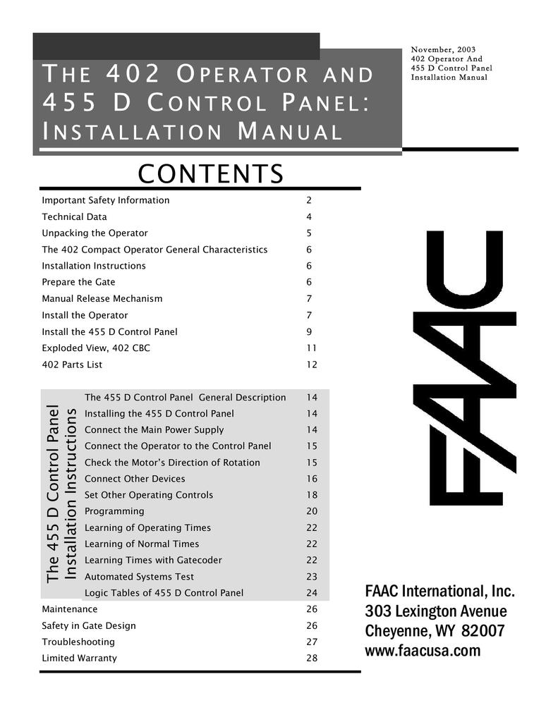 medium resolution of faac 402 cbc swing gate operator parts diagram