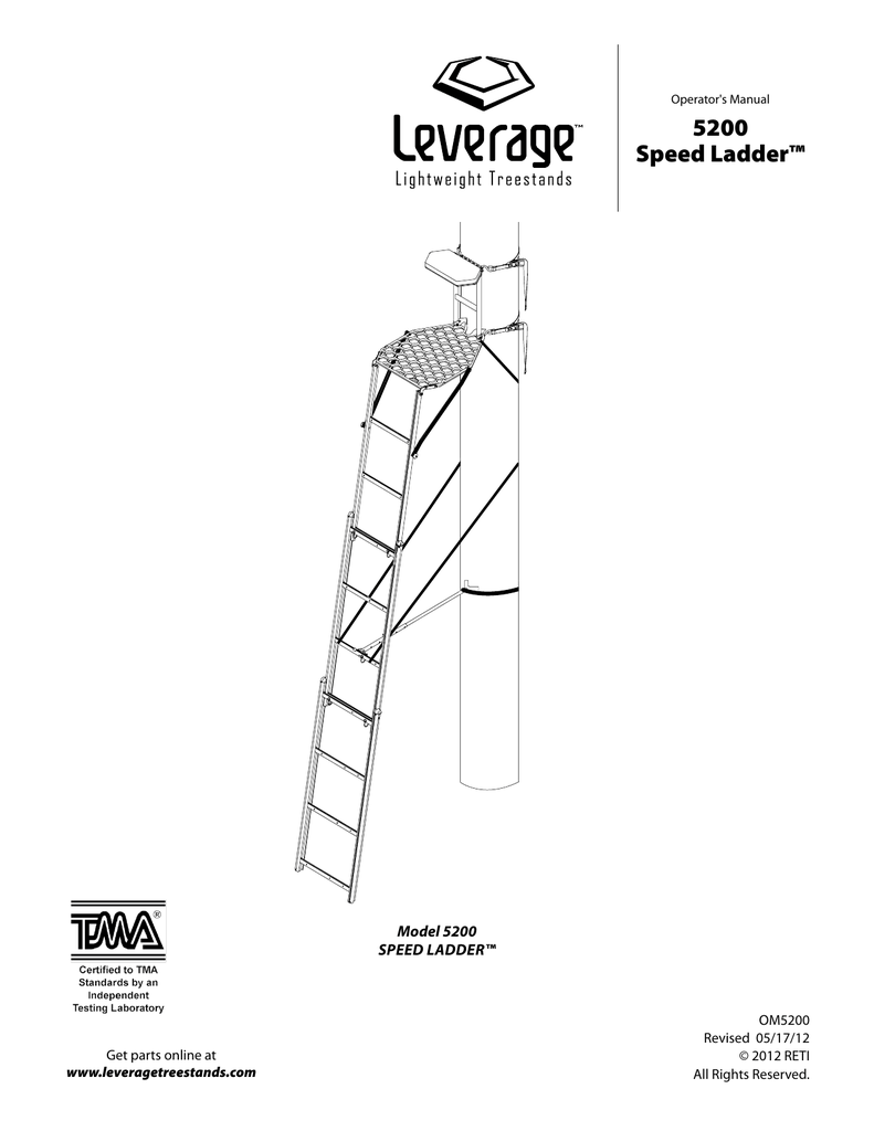 Leverage Model 5200 SpeedLadder Treestand Manual