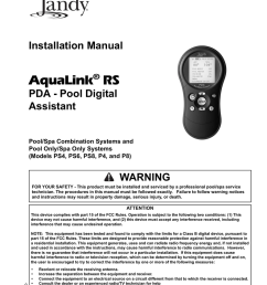 click here to view the jandy pda installation manual [ 791 x 1024 Pixel ]
