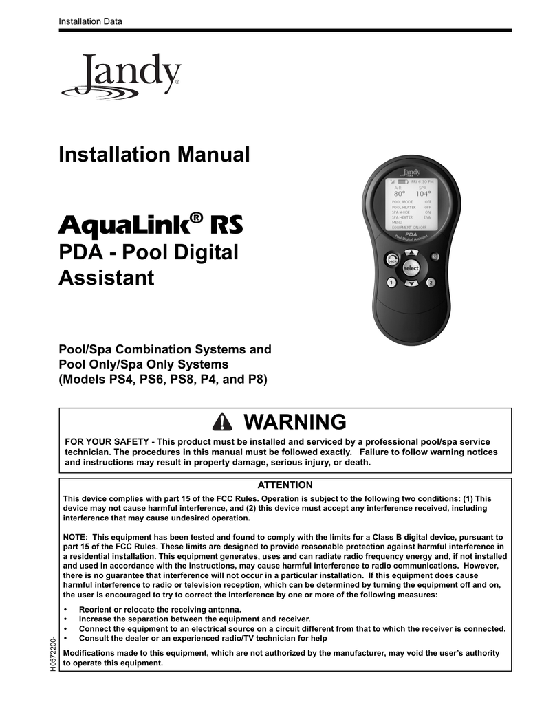 medium resolution of click here to view the jandy pda installation manual