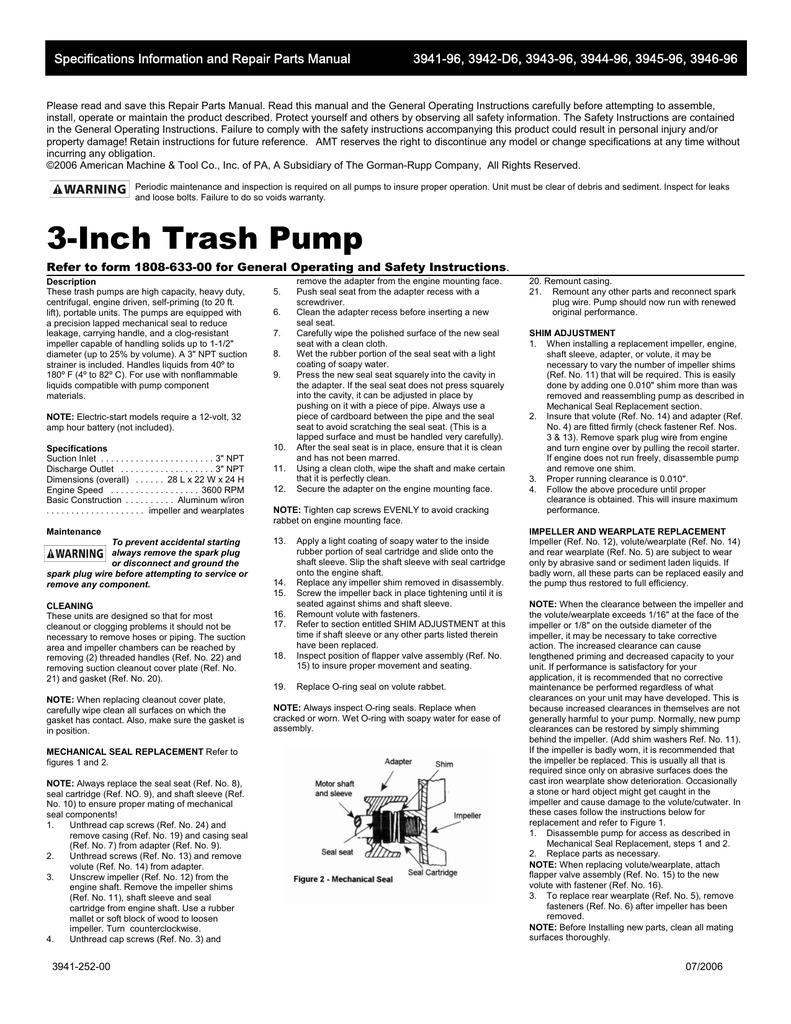 hight resolution of 3 trash pump manual