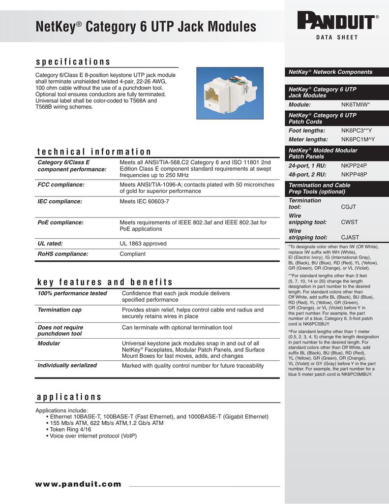 medium resolution of keystone jack categoria 6 toolless