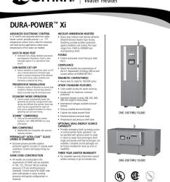 dura power xi dve dhe spec sheet aosce15500  [ 791 x 1024 Pixel ]