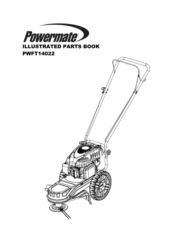 Powermate Field Trimmer Illustrated Parts Book for Model