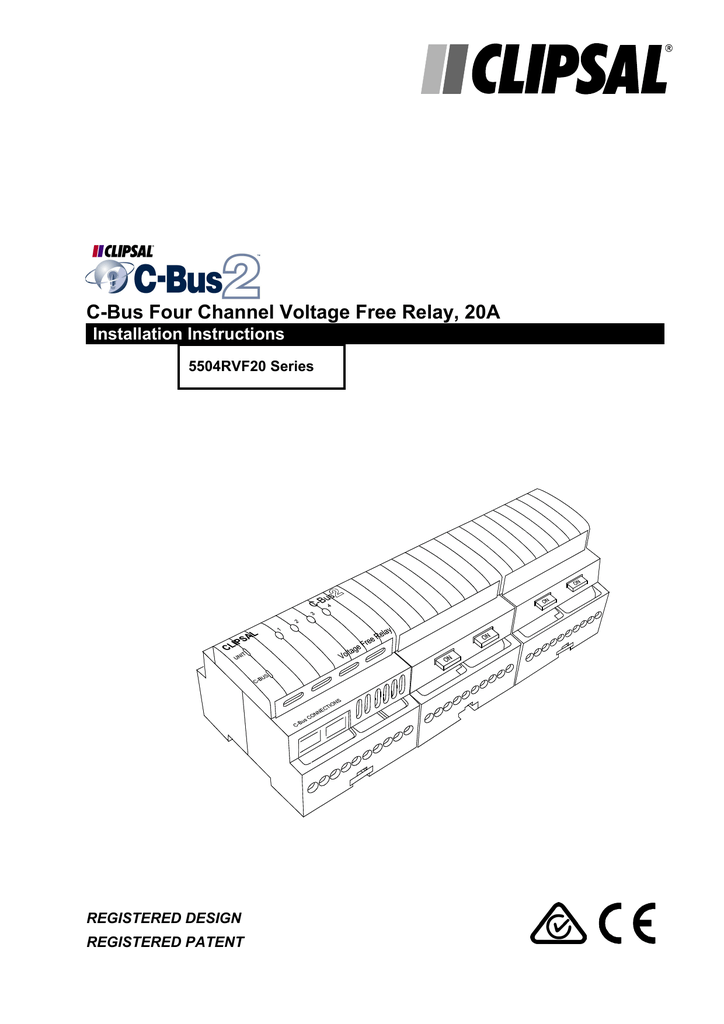 Clipsal C-Bus Relay Voltage Free L5504RVF20 Smart House