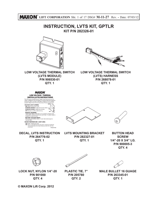 small resolution of lvts kit instructions for gptlr