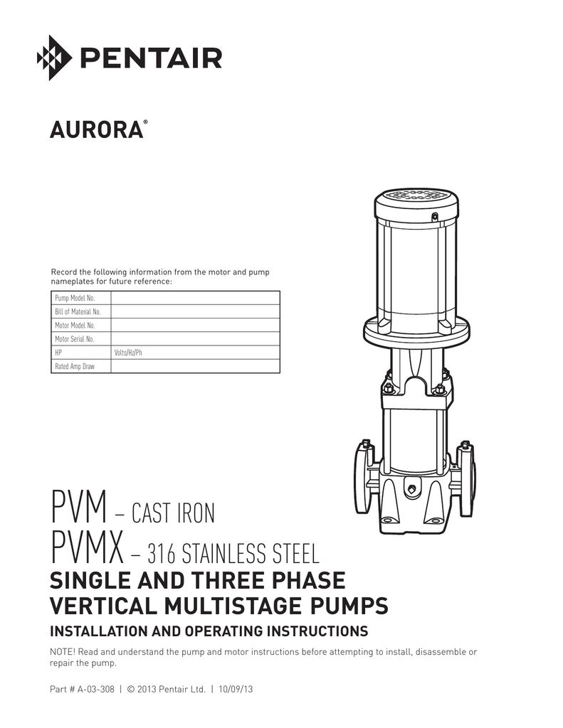 medium resolution of installation operating single three phase pvm s