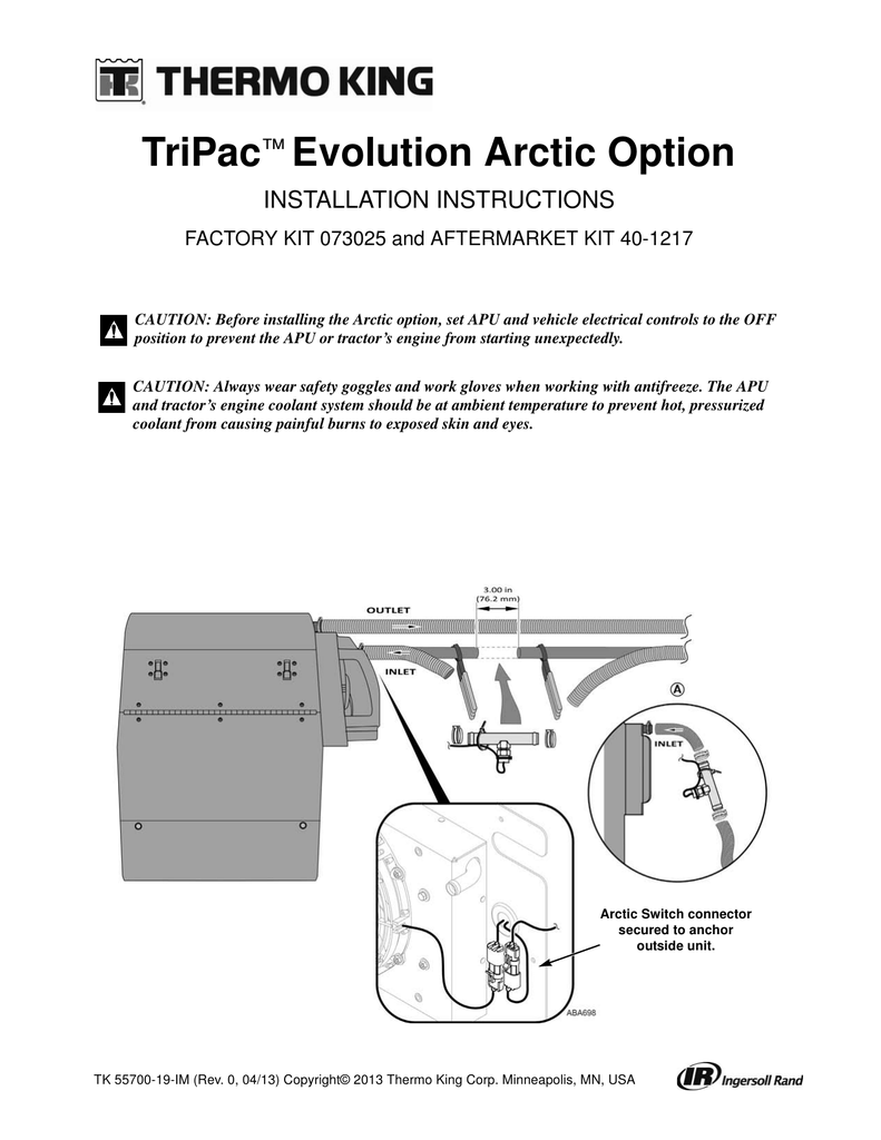 hight resolution of tripac evolution arctic option installation instructions