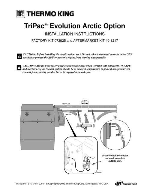 small resolution of tripac evolution arctic option installation instructions