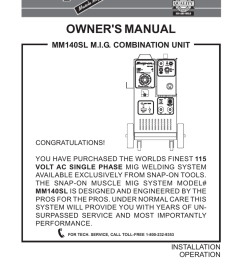 snap on mm 140 sl owners manual [ 791 x 1024 Pixel ]