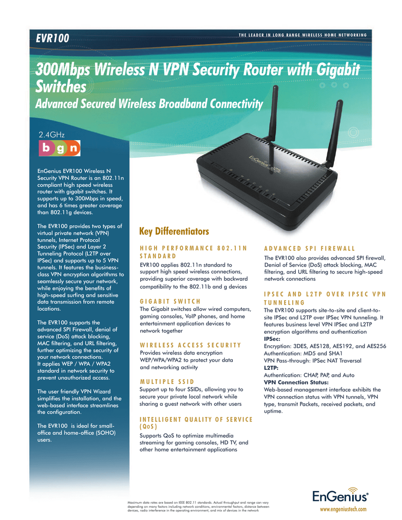 medium resolution of 300mbps wireless n vpn security router with gigabit switches evr100