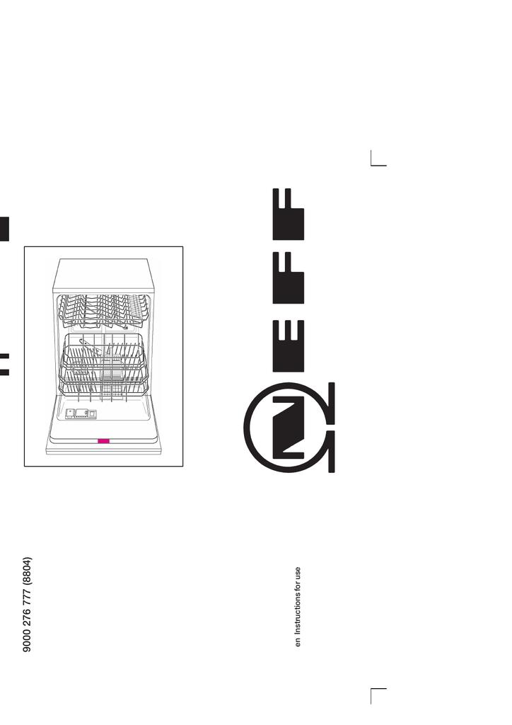 Neff Integrated Dishwasher Manual Pdf : Neff Washing