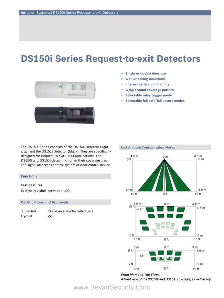 hight resolution of detection systems request to exit motion detector