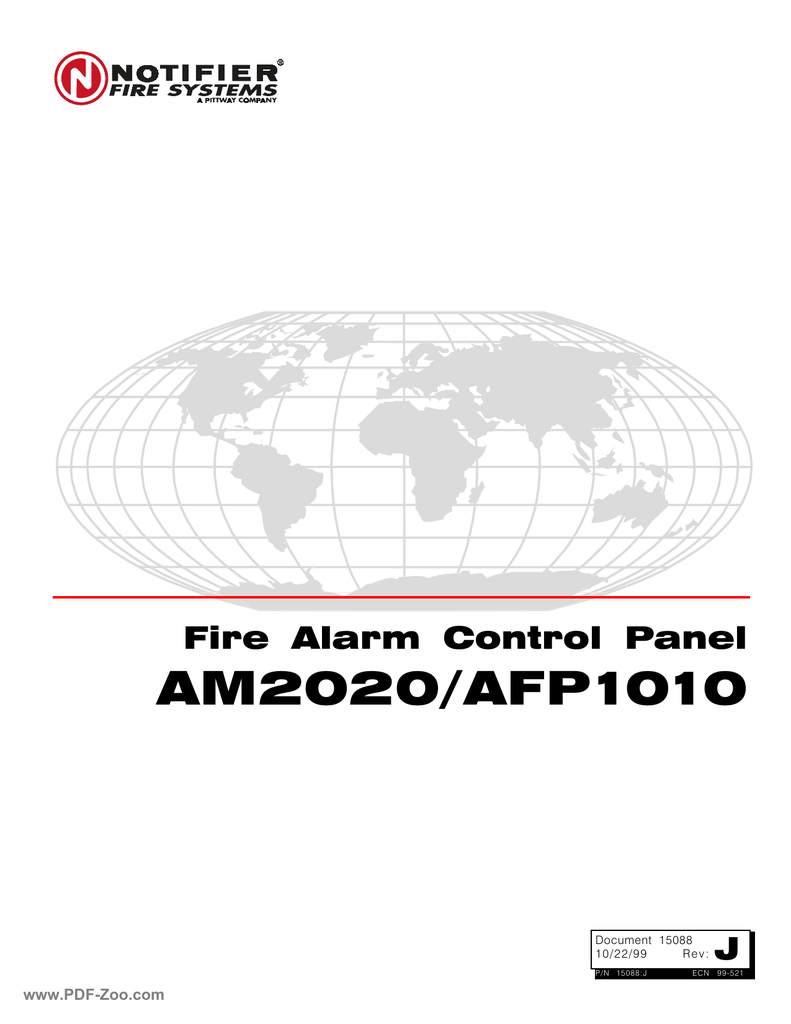 Notifier AM2020-AFP1010 Installation Programming Operating