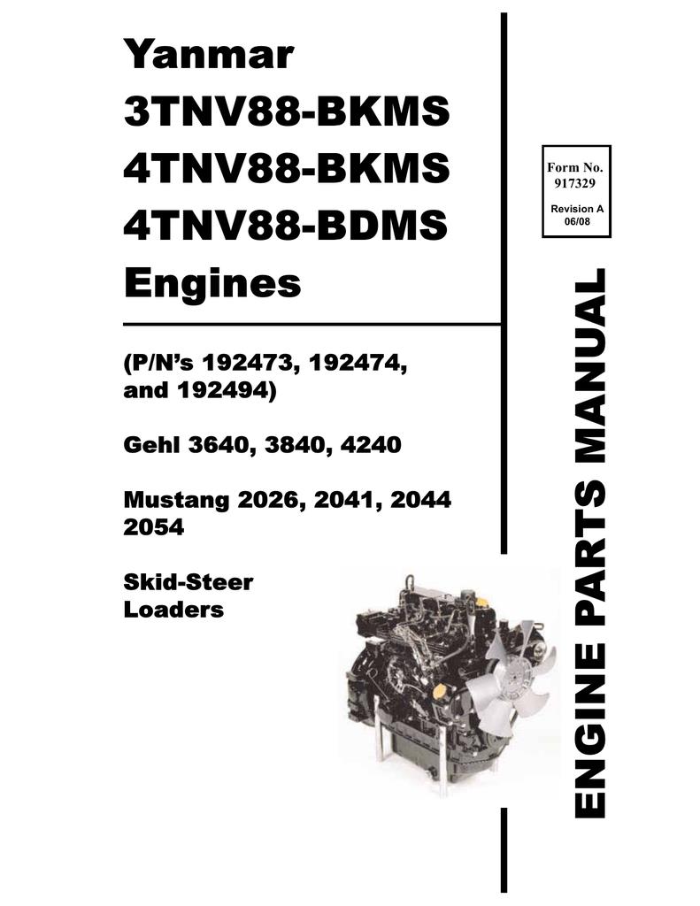 medium resolution of  wiring diagram engine skid loader yanmar 3640 3840 4240 manualzz com on wisconsin