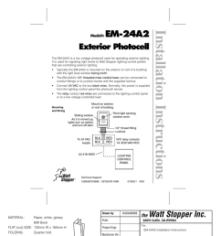 installation instructions em 24a2 exterior photocell [ 791 x 1024 Pixel ]