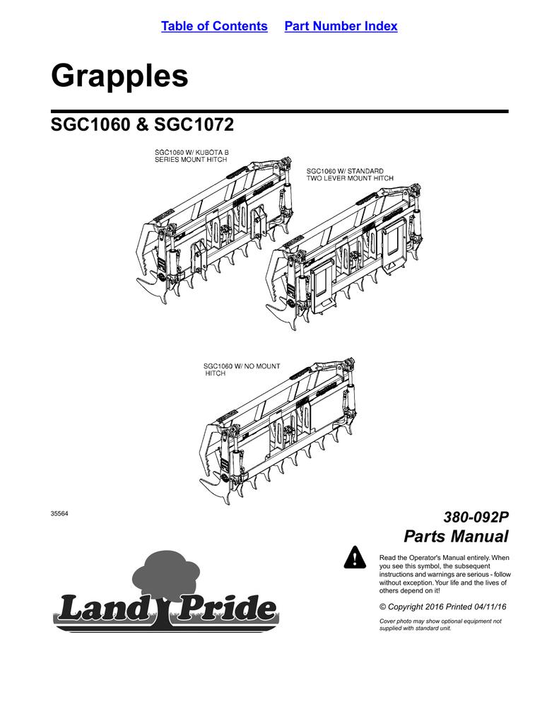 medium resolution of kubota m5950 tractor u0026 cab parts manual array grapples sgc1060 u0026amp sgc1072 parts manual 380 092p manualzz com rh manualzz com