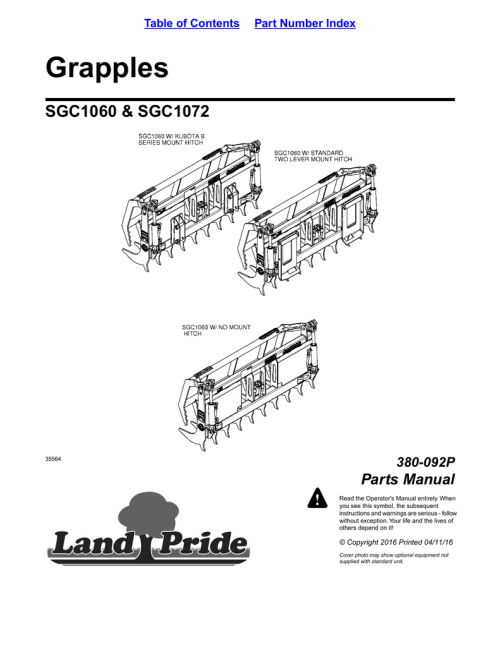 small resolution of kubota m5950 tractor u0026 cab parts manual array grapples sgc1060 u0026amp sgc1072 parts manual 380 092p manualzz com rh manualzz com