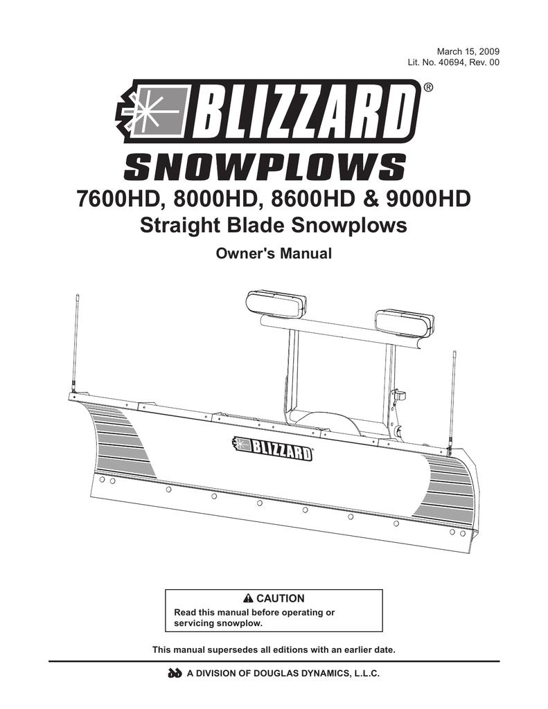 Blizzard 8100pp Plow Wiring Diagram. . Wiring Diagram