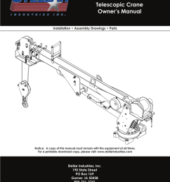 model 3315 telescopic crane owner s manual installation assembly drawings parts [ 791 x 1024 Pixel ]