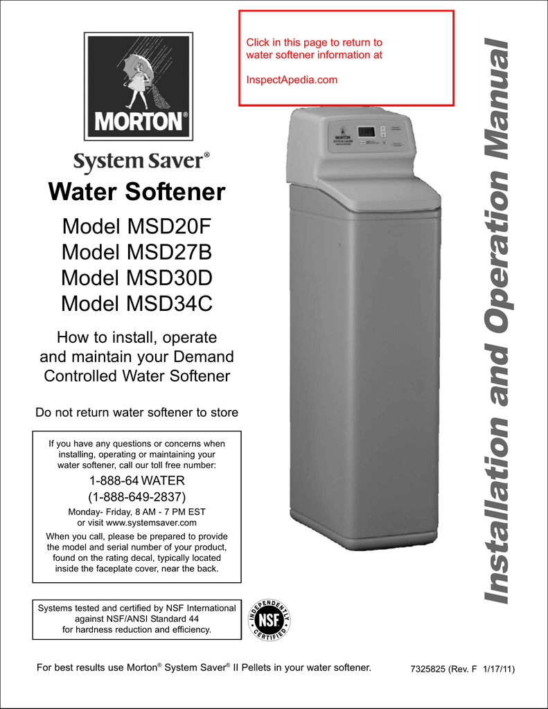 medium resolution of morton system saver water softener model msd20f msd27b msd30d msd34c installation and operation manual