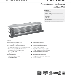 acnf series ceiling mounted air handlers 1 to 2 tons contents [ 791 x 1024 Pixel ]