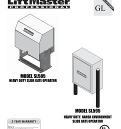 liftmaster sl585 manual [ 791 x 1024 Pixel ]