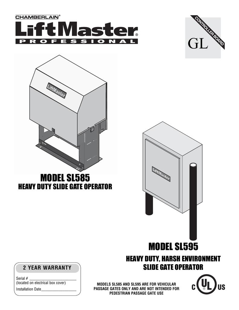 medium resolution of liftmaster sl585 manual