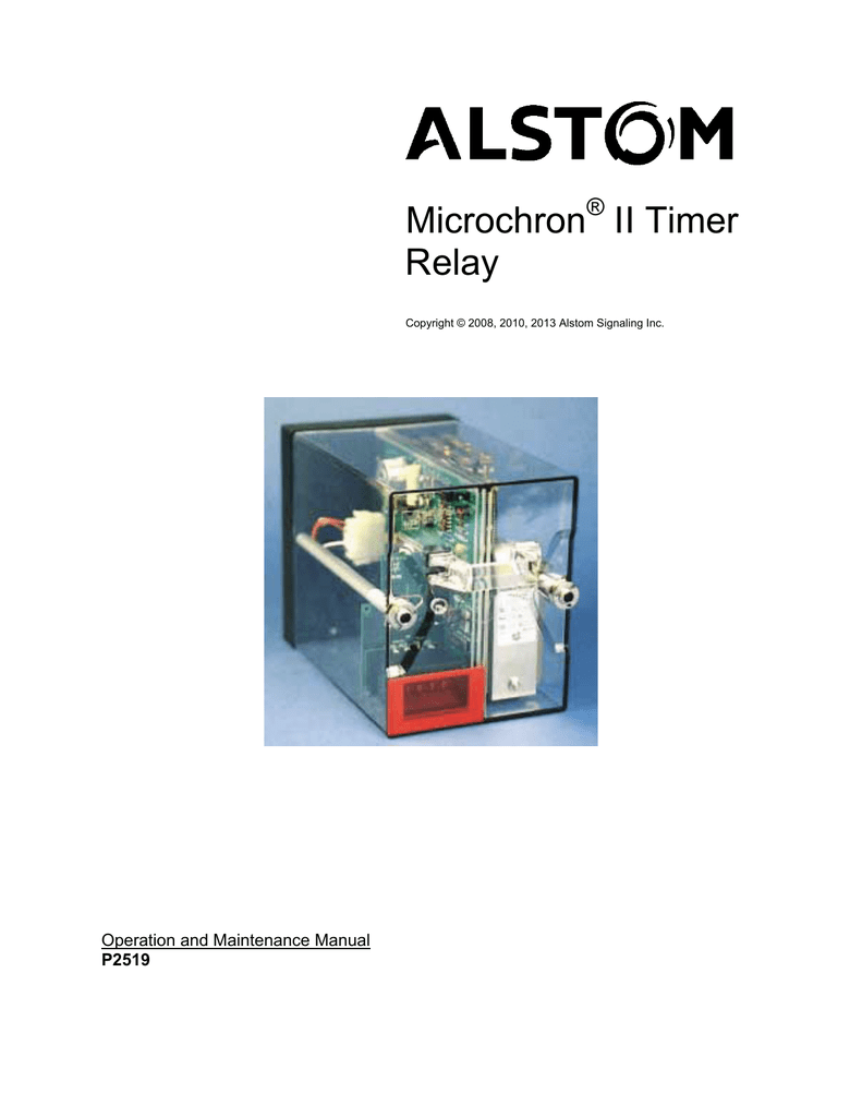 Wiring Diagram Alstom Relay