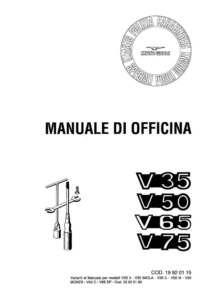 Manuale Di Officina Malaguti Fifty