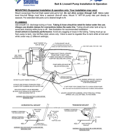 shurflo install instructions shurflo install instructions bait livewell pump installation operation  [ 791 x 1024 Pixel ]