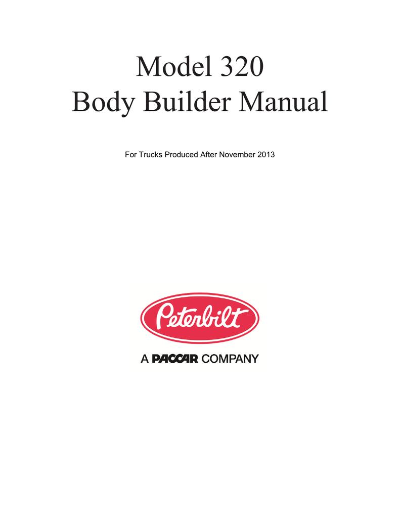 medium resolution of  peterbilt 320 builder manual manualzz com on peterbilt 320 engine mack mr wiring