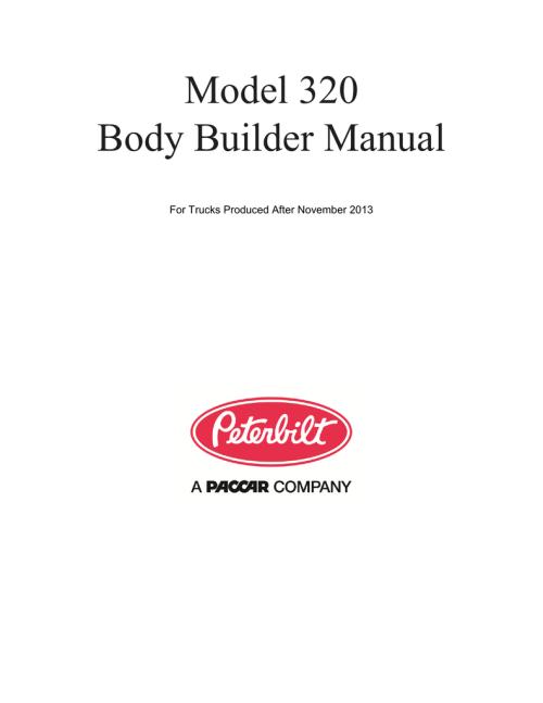 small resolution of  peterbilt 320 builder manual manualzz com on peterbilt 320 engine mack mr wiring
