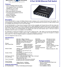 st poe s04 60w 5 port 10 100 ethernet poe switch features  [ 791 x 1024 Pixel ]