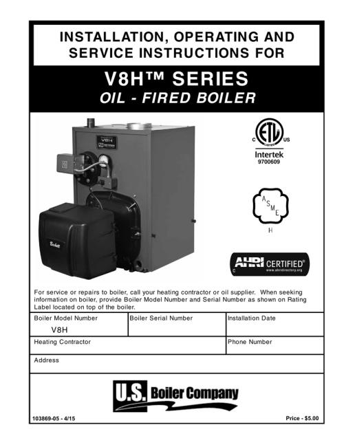 small resolution of burnham v8h manual