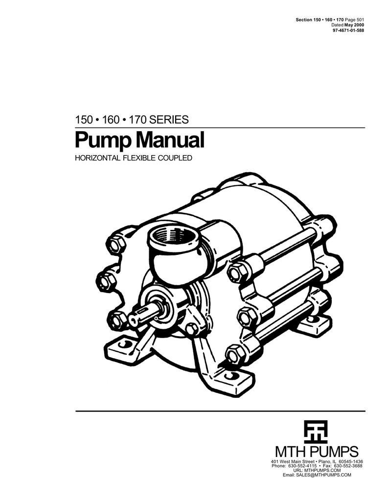 Pump Manual MTH PUMPS 150 • 160 • 170 SERIES HORIZONTAL