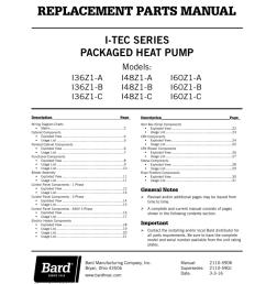 i tec series packaged heat pump models i36z1 a [ 791 x 1024 Pixel ]