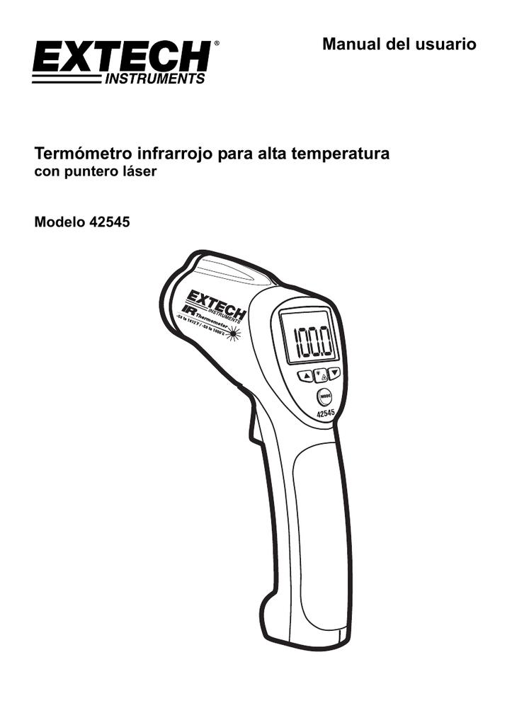 Manual del usuario Termómetro infrarrojo para alta