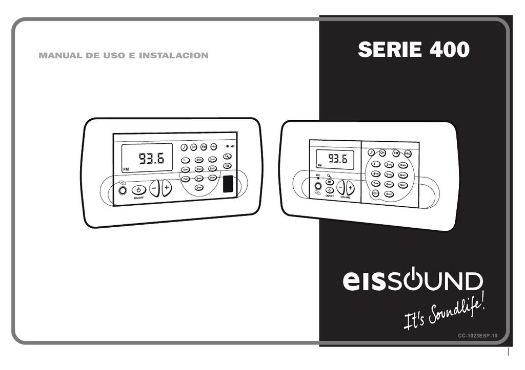 Serie 400 Manual de uso e instalación CC-1023ESP-10