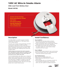 120v ac wire in smoke alarm slide load front battery door model i4618a [ 791 x 1024 Pixel ]
