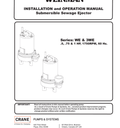 weinman installation and operation manual submersible sewage ejector pump [ 791 x 1024 Pixel ]