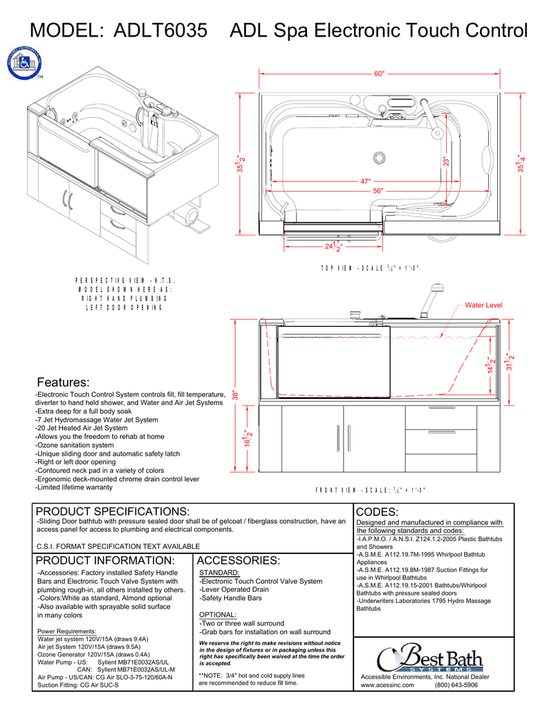 medium resolution of adlt6035 adl spa tub electronic touch control drawing